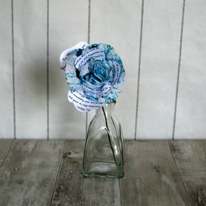 Something Blue Storyteller Paper Rose - room decorations