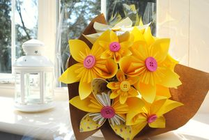 Sunshine Paper Flower Bouquet - artificial flowers