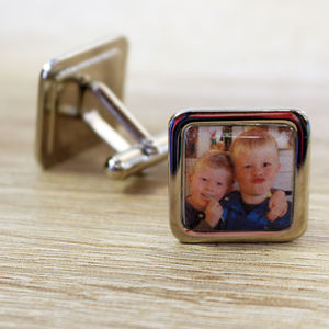 Photographic Personalised Cufflinks - cufflinks