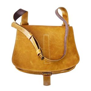 Leather Shoulder Bag With Flap - bags & purses