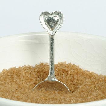 Pewter Heart Sugar Spoon
