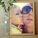 Personalised Photo Print