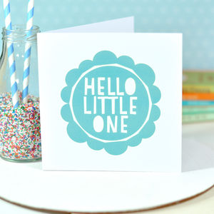 Hello Little One Baby Boy Card - new baby cards