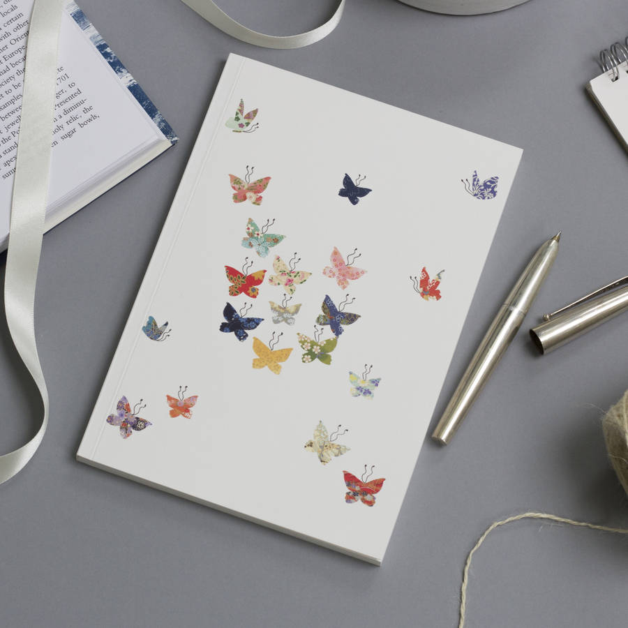 Large A5 Butterfly Notebook