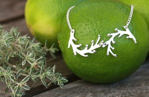Handmade Silver Samphire Double Necklace