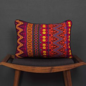 Chinautla Two Maya Tribal Cushion - patterned cushions