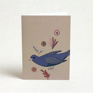 Bird And Floral Card