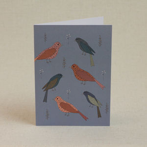 Birds And Floral Card