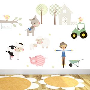 Willow Farm Fabric Wall Stickers - baby's room