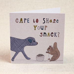 Dog And Squirrel Children's Birthday Card