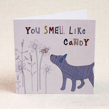 Dog And Butterfly Valentine's Day Card