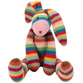 Striped Bunny Toy - easter