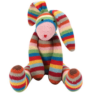 Striped Bunny Toy - baby shower gifts