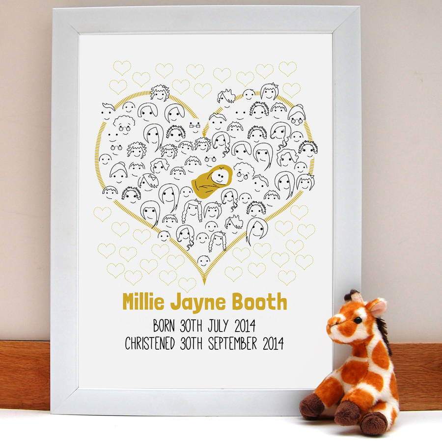 Fingerprint baby shower or christening guestbook by fingerprint baby shower or christening guestbook sciox Images