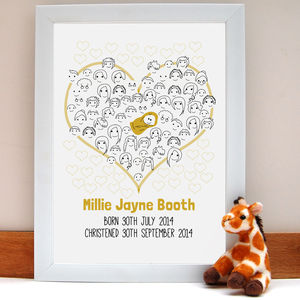 Fingerprint Baby Shower Or Christening 'Guestbook'