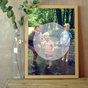 Personalised Instagram Photo Bubble Print - less ordinary wall art