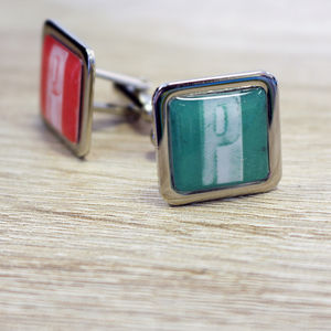 Letterpress Initial Personalised Cufflinks