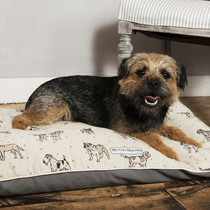 Dog Print Pillow Dog Bed - dogs