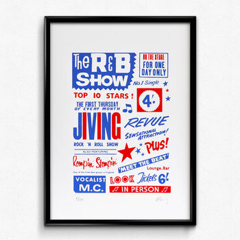 'The R&B Show' Limited Edition Screen Print