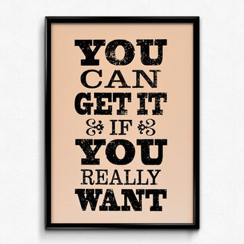 'You Can Get It' Screen Print