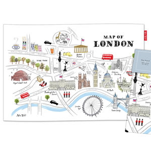 London Map Tea Towel - kitchen accessories