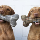 Tweed Squeaky Bone Toys