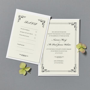 'Scroll' Wedding Invitation And RSVP