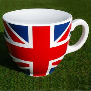 Union Jack Tea Cup Stool - garden furniture