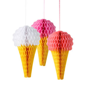 Ice Cream Honey Comb Decorations - hanging decorations
