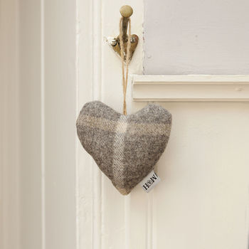 Luxury Tweed Lavender Heart