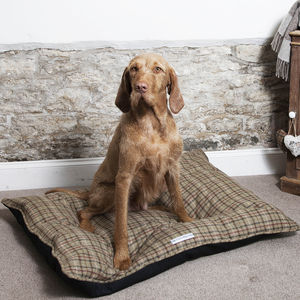 Luxury Tweed Pillow Dog Beds - floor cushions