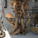 Natural Driftwood Round Coffee Table