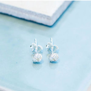 Friendship Knot Sterling Silver Small Earrings - earrings