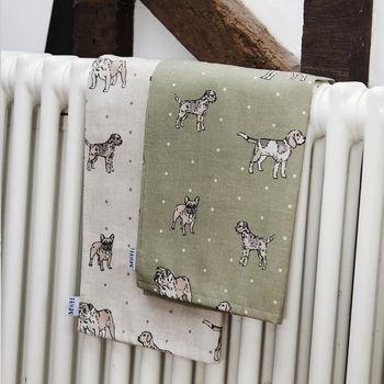 Dog Print Tea Towels