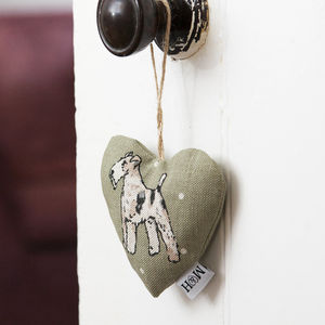 Dog Breed Lavender Heart - hanging decorations