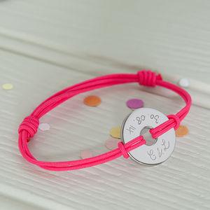 Women's Personalised Open Disc Bracelet