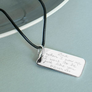 Men's Personalised Dog Tag Necklace - necklaces