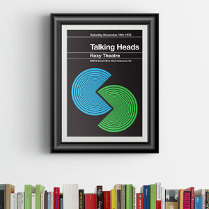 Talking Heads Remixed Gig Poster - music