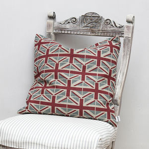 Union Jack Linen Cushion - patterned cushions