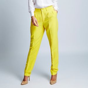 Silk Linen Tapered Trousers - women's sale