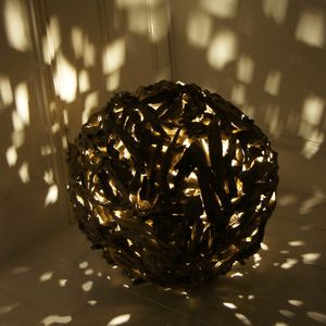 "Driftwood Sphere Floor Lamp ""Designed By"""
