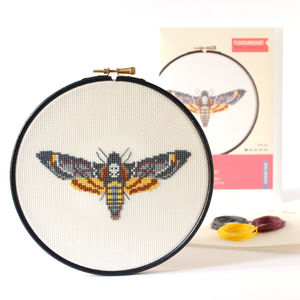 Moth Counted Cross Stitch Kit
