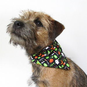 Halloween Print Dog Neckerchief - clothes & accessories