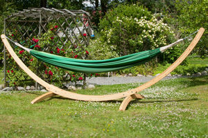 Medium Wooden Arch Hammock Stand - garden furniture