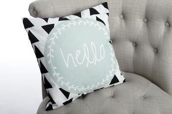'Hello' Modern Cushion