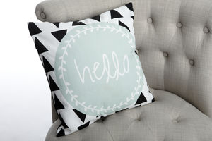 'Hello' Modern Cushion - children's cushions