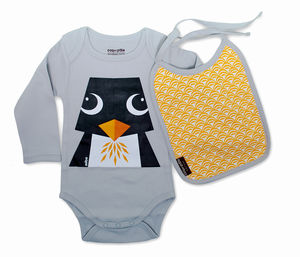 Body Suit And Bib Penguin