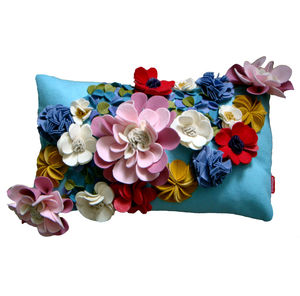 Floral Cushion - bedroom