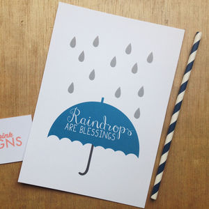 'Raindrops Are Blessings' Print