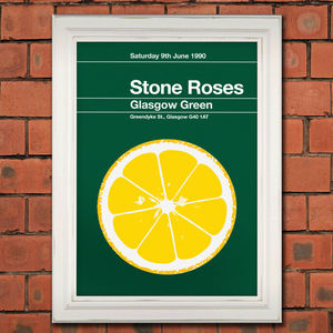 Stone Roses Remixed Gig Poster